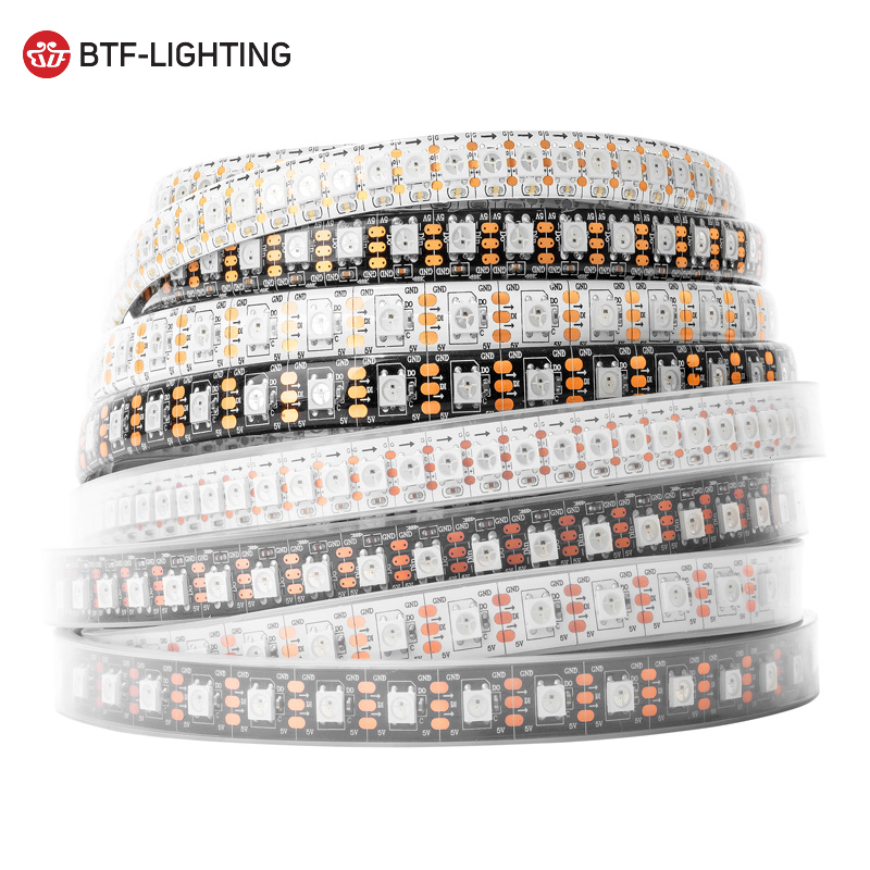 Top quality DC5V <strong>led</strong> pixel 5050 WS2812B <strong>led</strong> strip light 30/48/60/96/144 <strong>leds</strong>/m