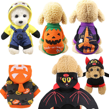 Pet Dog Cat Costumes Spider Skull Pumpkin Cosplay Clothes For Puppy Cats Dogs Halloween Hoodie Outfit Clothing