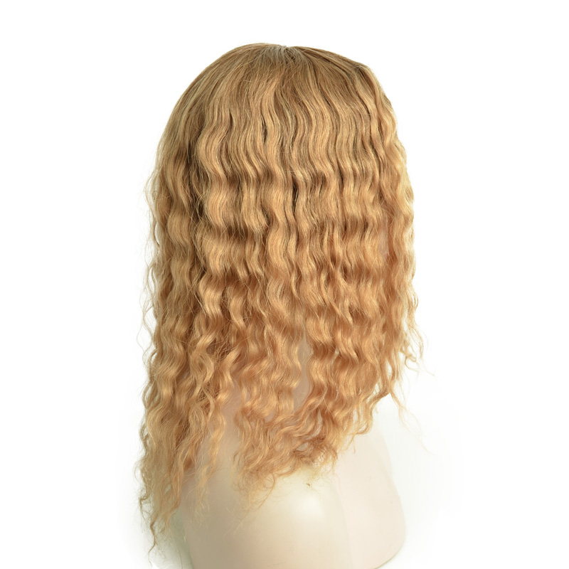 100% Human Hair Deep Wave Hidden Knots Full Swiss Lace Wig With Silk Top