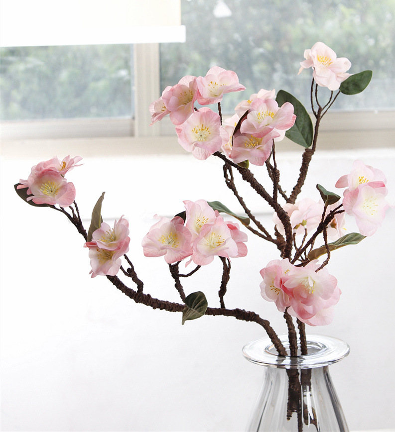 Spot supply feel cherry peach simulation moist touch manufacturers direct simulation flower fake flower wholesale
