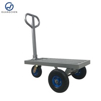 3 wheel metal utility cart trolley moving transport trolley tire dolly with axle