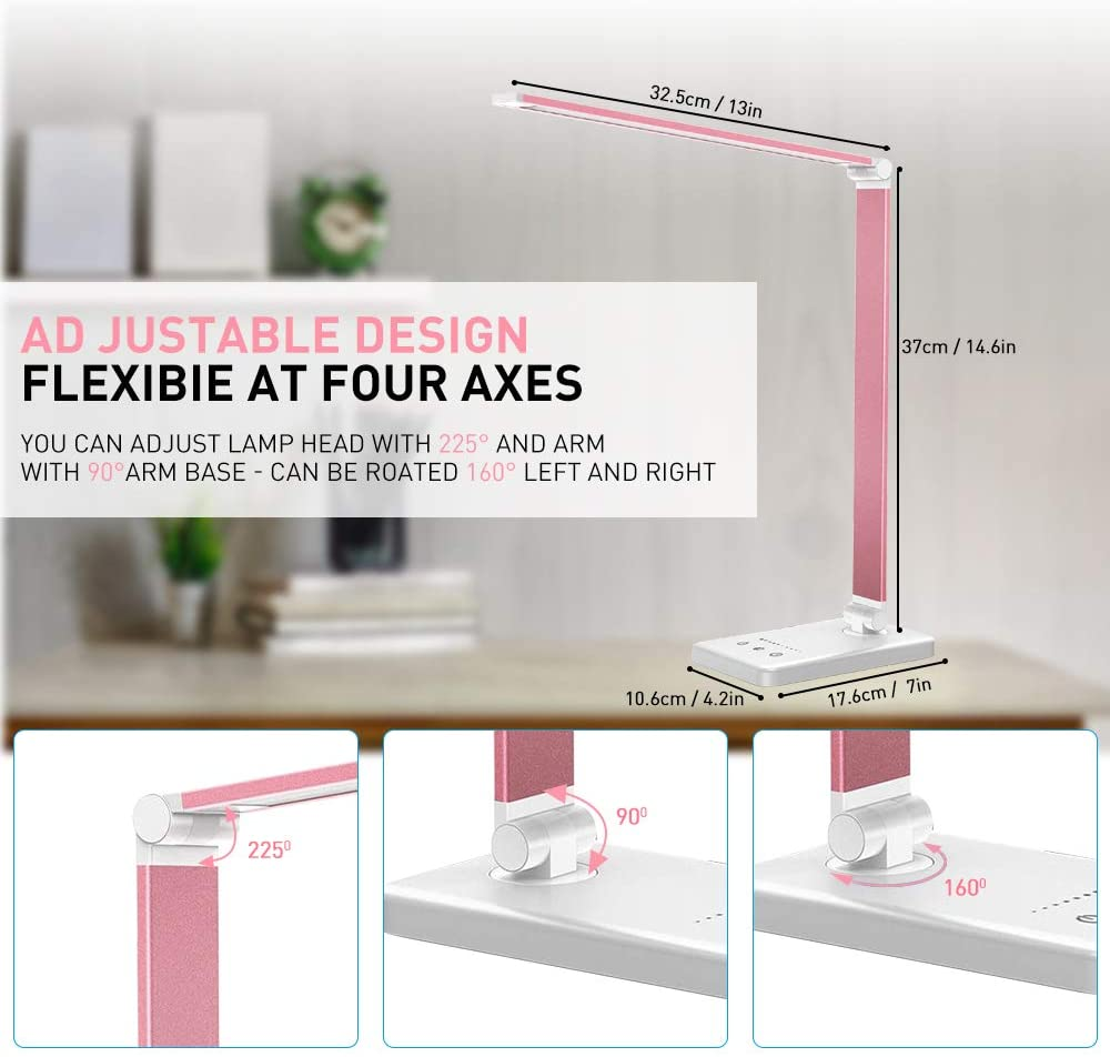 YARRAE 2020 YEARS PINK COLOR THE MOST POPULAR DESK LAMP WITH OUTPUT PORT