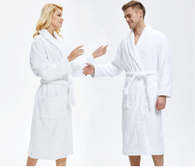 Yalan Hot Selling Unisex White Hotel 100% Cotton Terry Bathrobe for Couple