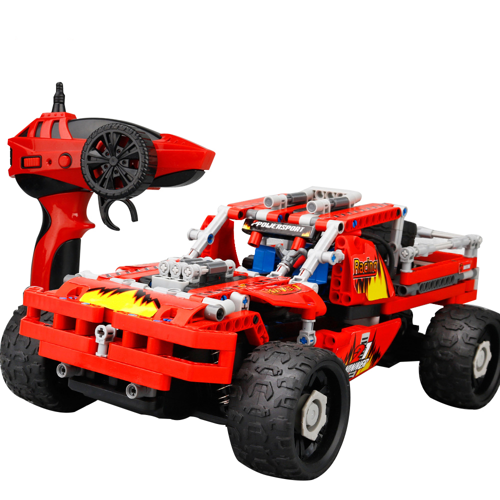 Toy Vehicle Cross Country Car 431PCS DIY Cars High Speed RC Cars SDL 2017A-6 Building Blocks 2.4GHz 4CH <strong>Remote</strong> <strong>Control</strong> 20kmh