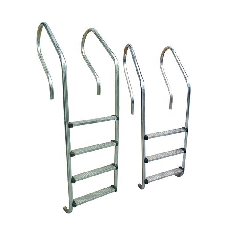 3-Step In Ground Swimming Pool Ladder 42mm Stainless Steel Silver /& Black