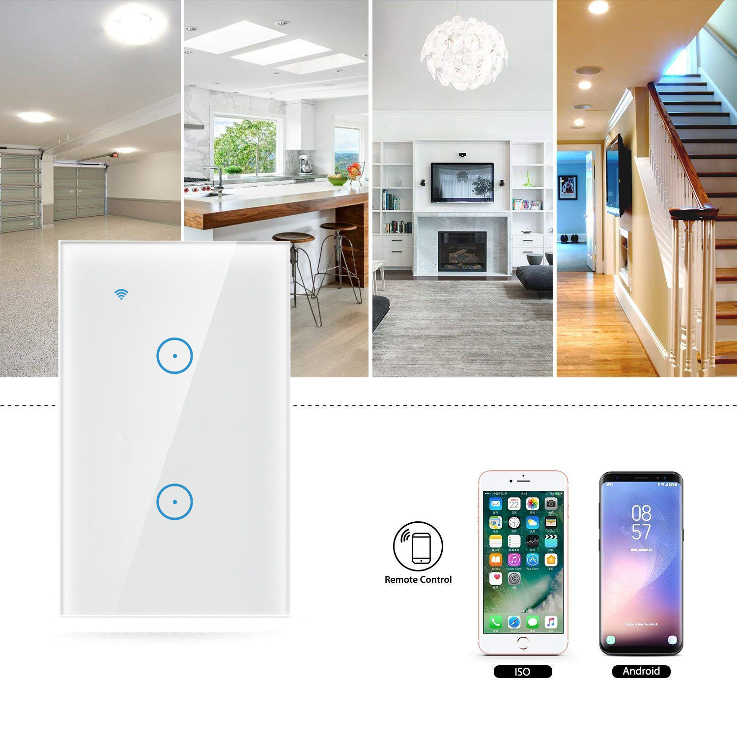 Smart Home Light Switch Wifi Remote Control Switch / Wifi Smart Wall Switch