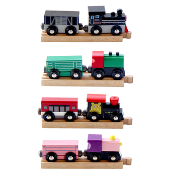 2021 New arrival multitudinous magnetic set wooden train toy for kids railway train