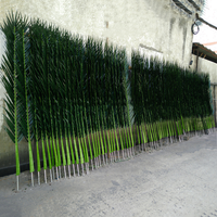Large Green Tropical Fake Artificial Palm Leaves for Outdoor Decoration
