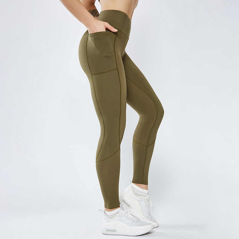 Wholesale Fitness Leggings with pocket Sports Pants Workout Slacks for <strong>women</strong> with phone pocket Yoga Leggings Gym Pants