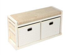 Bailey private custom solid wood storage drawer sofa bench cabinet