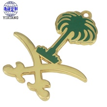 Manufacturers spot wholesale metal enamel pendant customized cheap enamel commemorative badges