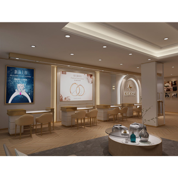 Mall Jewelry Display Kiosk Showroom Gold Jewelry Watch Kiosk Showcase Furniture