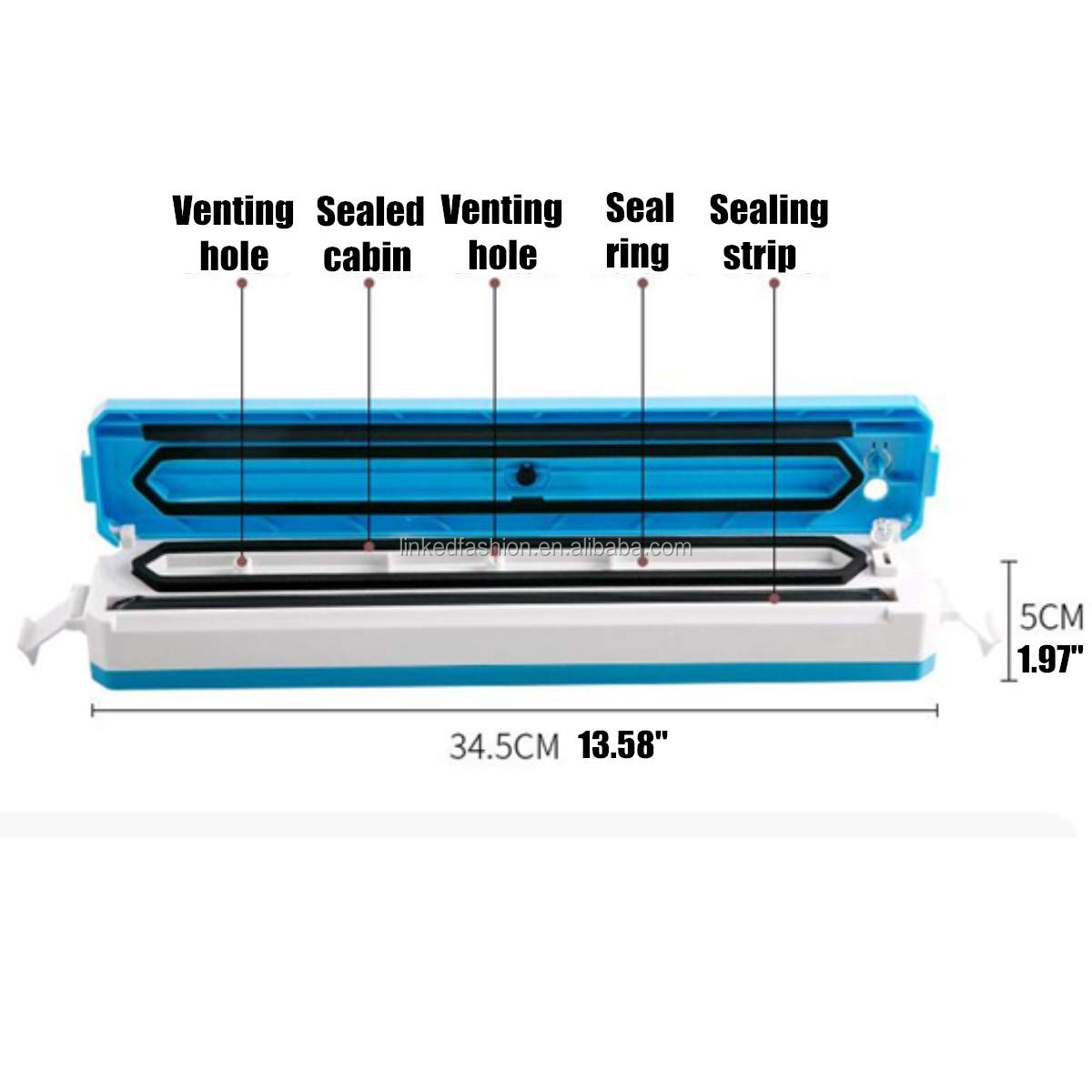 Vacuum Sealer, Linked Tech Automatic Vacuum Sealing Machine for Both Dried and Wet Fresh Food, Suitable for Camping and Home Use