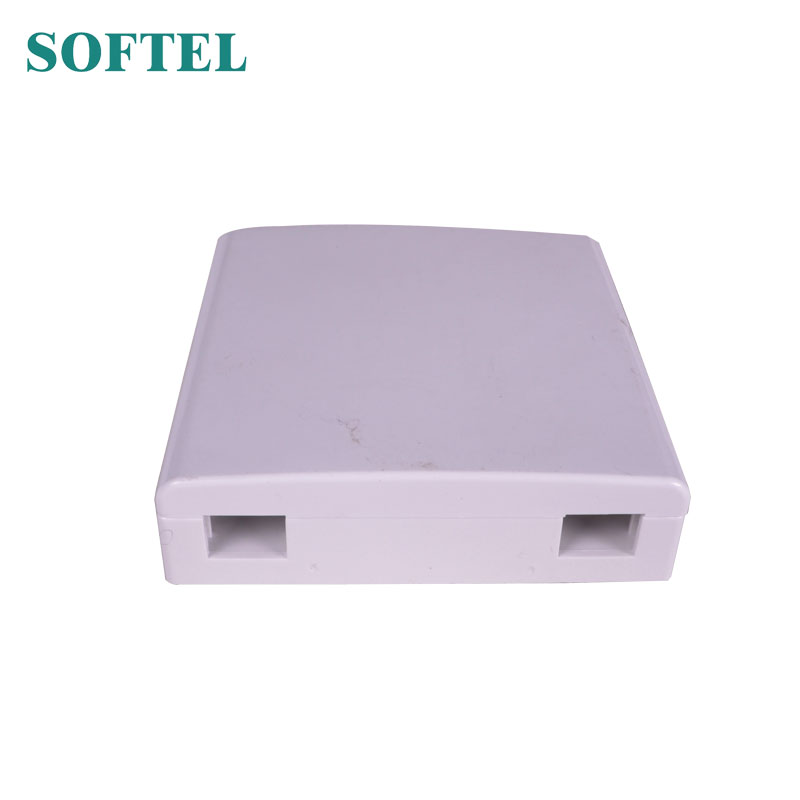 Mini terminal box | 2 port SC faceplate | FTTH fiber optic socket