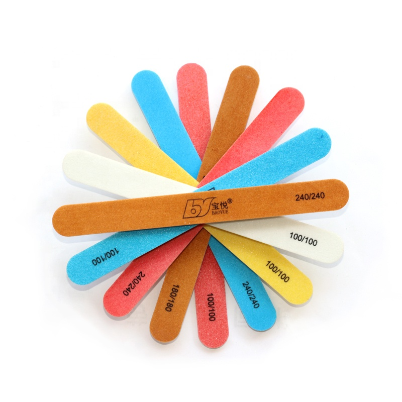 Wholesale cheap <strong>price</strong> colorful disposable plastic emery board 80/100/180/240 nail file