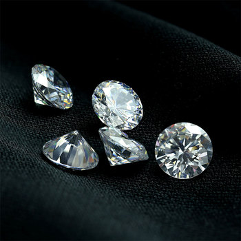 Wholesale price machine cut cz stone loose 1mm synthetic white cubic zirconia
