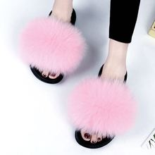 Fur <strong>slippers</strong> women fur <strong>slippers</strong> fluffy fox fur <strong>slippers</strong>