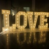 Large led love light up letters 4ft marquee letters love