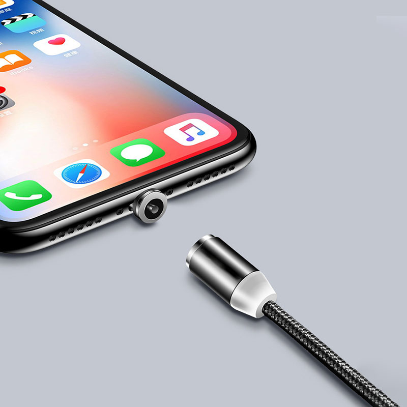 3 in 1 long 1M 2M available magnetic charging cable for iPhone for Android type C