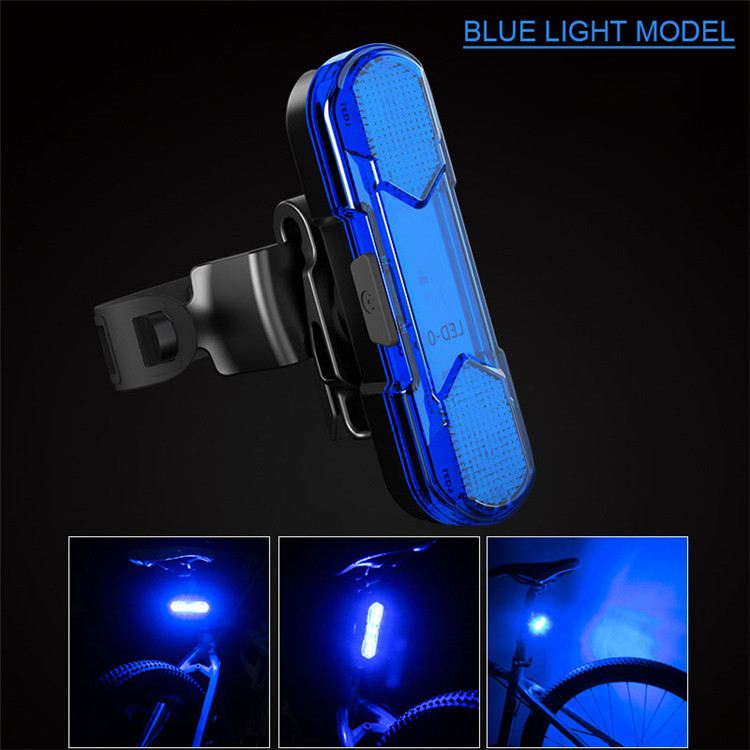 New Product High-Bright Safety Reminder Light USB Fast Charging Bicycle Tail Light