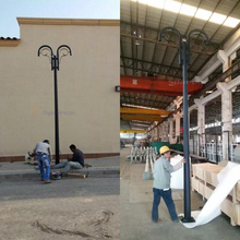 Factory direct powder coating 7m outdoor stainless steel garden light pole