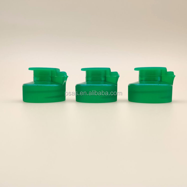 Plastic pet capsule bottle containers flip top cap 28 400