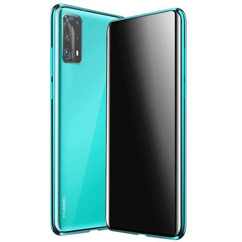 Full Body Flip Magnetic Case For Huawei P40 Smart Z Y9 Prime 2019 <strong>P</strong> Smart Plus Case 360 double side Tempered Glass Cover Magnet