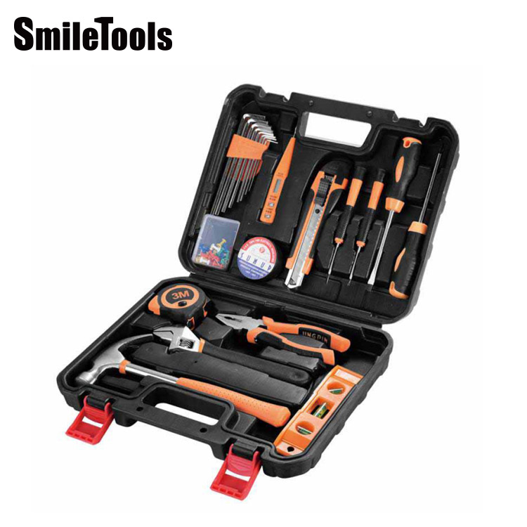 SmileTools 2019 high quality 21pcs portable tool box household hardware multifunction hand tool set