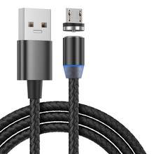 Micro <strong>USB</strong> 3 in 1 Magnetic Charger Cable LED Magnetic <strong>USB</strong> Charging Cable