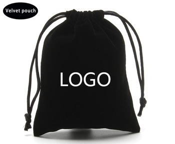 Free stock sample eco friendly soft suede dust bag jewelry packaging velvet pouch with ribbon drawstring in festival