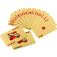 Durable Waterproof Golden Poker Cards 24K Gold-Foil Plated Playing Cards Table <strong>Games</strong>
