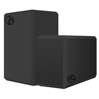 Black high density fitness full custom logo yoga block and bricks