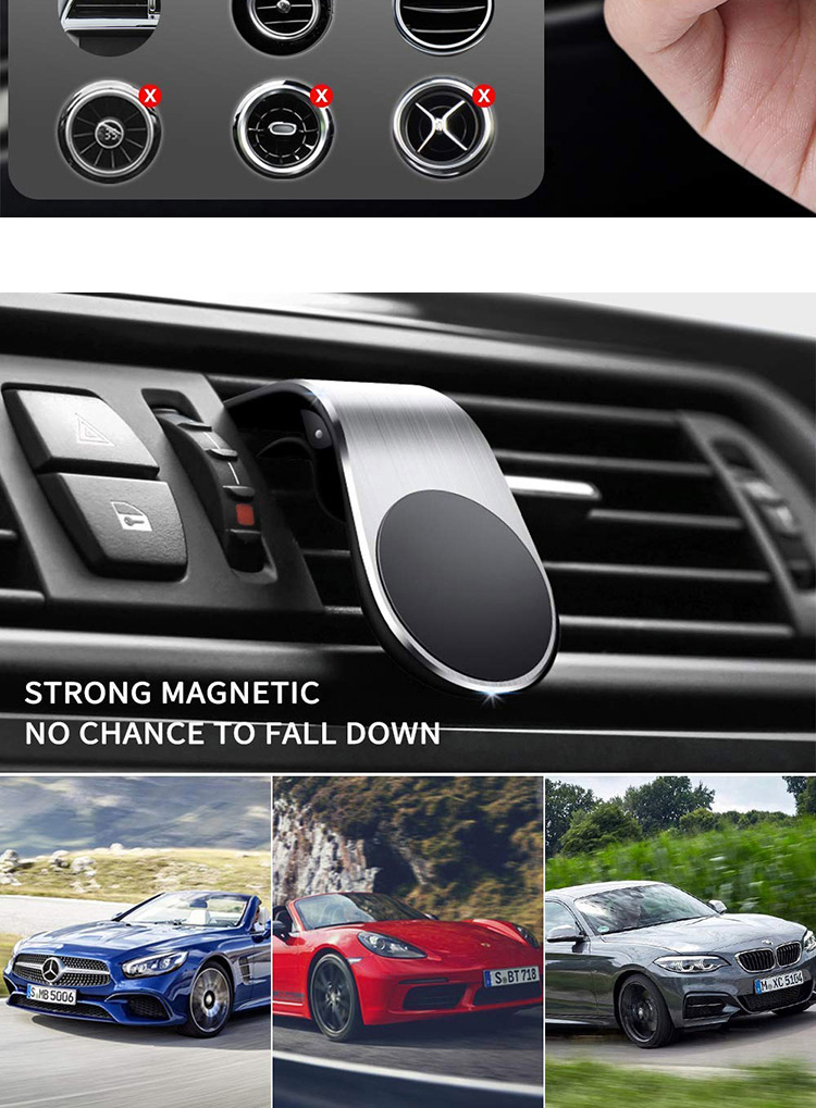 Fashion Car Air Vent Magnetic Mobile Phone Holder for Car