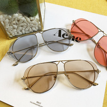 2020 new <strong>sunglasses</strong> female fashion street shooting personality <strong>sunglasses</strong> anti-blue light flat mirror large frame thin face glas