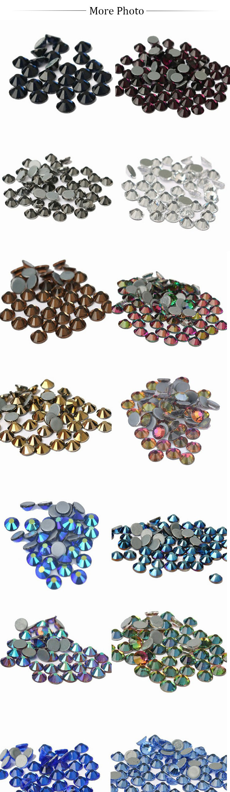 New Glass Crystal Dispersed Hot Drilling Rhinestones For Craft Stitching