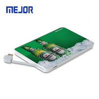 New kapta china gift promotional kort power bank 5000mah phone charger slim credit card powerbank