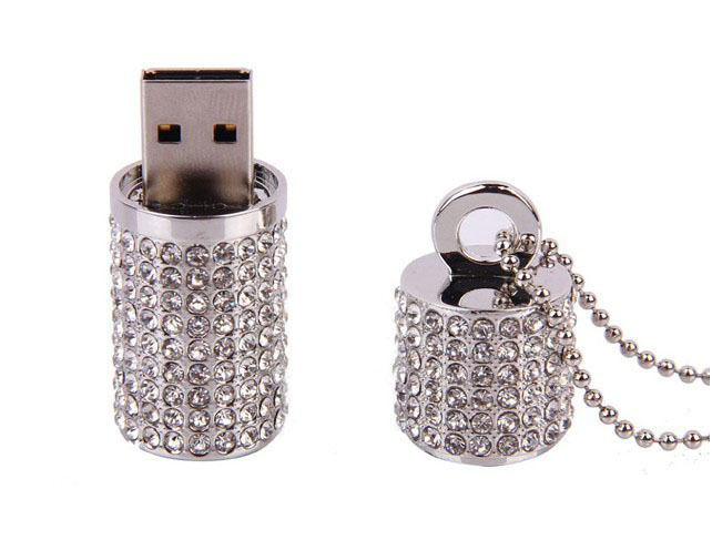 Customized logo promotional advertising rhinestone diamond drive crystal thumb glitter lipstick case shining usb flash drive 4gb