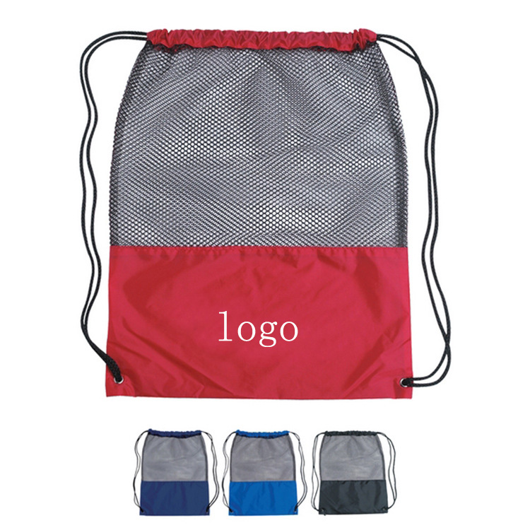 <strong>Manufacturers</strong> mesh pull rope sports backpack nylon mesh multi-function shoulder bag <strong>shoes</strong> storage drawstring bag