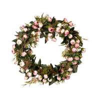 Artificial Decorative Flowers Wreaths Rose Wreaths For Front Door Wreath Supplies Wholesale For Home Garden