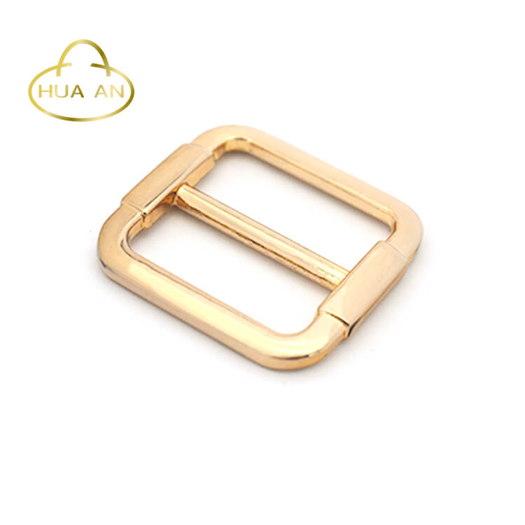 Factory manufacturing metal square slide buckle for bags