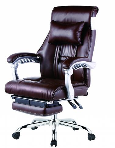 modern adjustable height high back leather executive recliner office chair