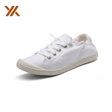 United States Free Shipping Comfortable Rubber Sole White Women Casual Canvas <strong>Shoes</strong>, Women Fashion Sneaker