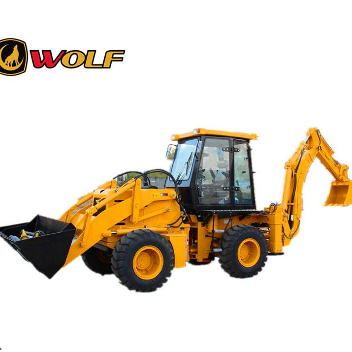 tractor with front loader and backhoe wolf 2.5t wz30-25 mini backhoe loader price
