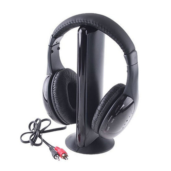 FM radio with MIC cordless transmitter wireless headset headphones for TV