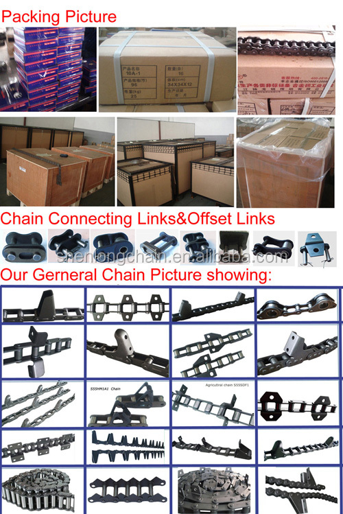 Pitch 160mm conveyor chain cotter type every link