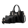 3 in 1 lichee leather 2019 Fashion luxury women shoulder bags tote handbag set