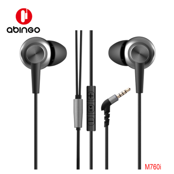 abingo best selling wired headphone in-ear earphones ear buds with mic control M760i