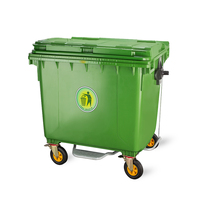 Plastic waste container 1100 liter plastic outdoor garbage rubbish trash storage recycle bin
