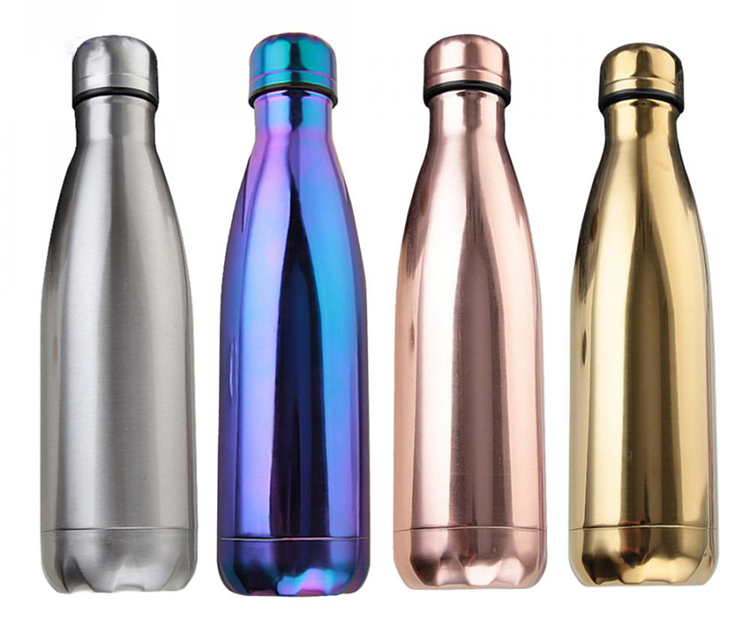 Drinkware vacuum flask 500ml stainless steel water bottle For Cycling, 17Oz metal water vacuum bottle cola water bottles