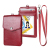 slim design leather badge and credit card holder with zipper and removable lanyard